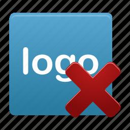 blue, delete, logo, remove icon