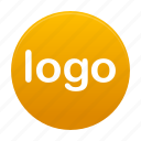 logo, round, sign, yellow icon
