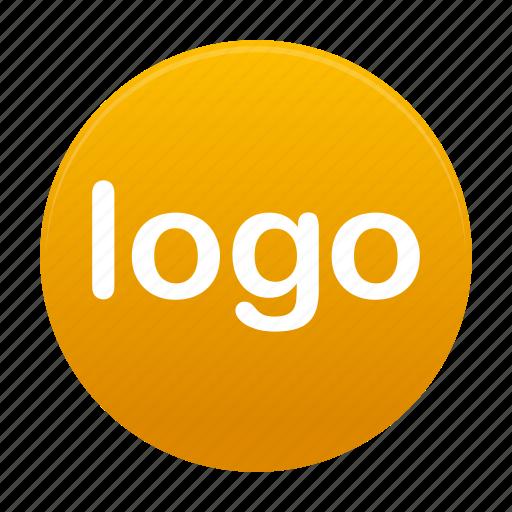 logo, round, sign, yellow icon