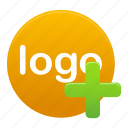 add, create, logo, new, plus, sign, yellow icon