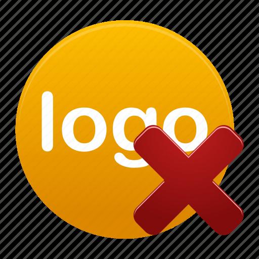 delete, logo, logos, remove, round, yellow icon