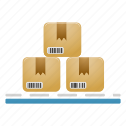 delivery, package, packages, pallet, products, shipping icon