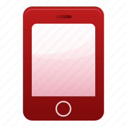 call, contact, iphone, mobile, phone, red, smartphone icon