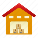 building, house, storage, warehouse icon