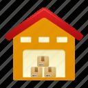 warehouse, building, storage, house