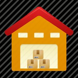 building, house, storage, warehouse icon
