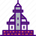 building, city, construction, home, lighthouse, urban icon