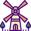 building, city, construction, home, urban, windmill icon