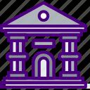 bank, building, city, construction, home, urban icon