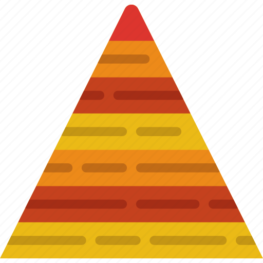 business, finance, marketing, money, office, pyramid icon