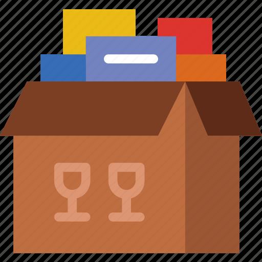 belongings, business, finance, marketing, money, office icon