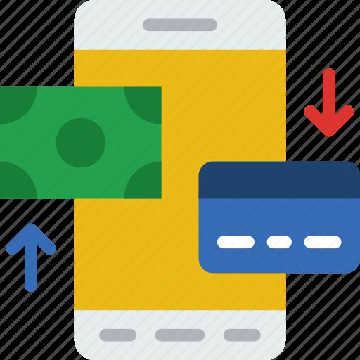 business, finance, marketing, money, office, phone, transaction icon