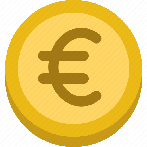 business, coin, euro, finance, marketing, money, office icon