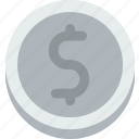 business, coin, dollar, finance, marketing, money, office icon