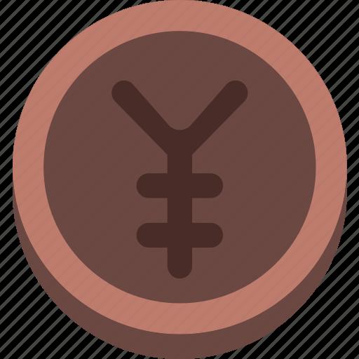 business, coin, finance, marketing, money, office, yen icon