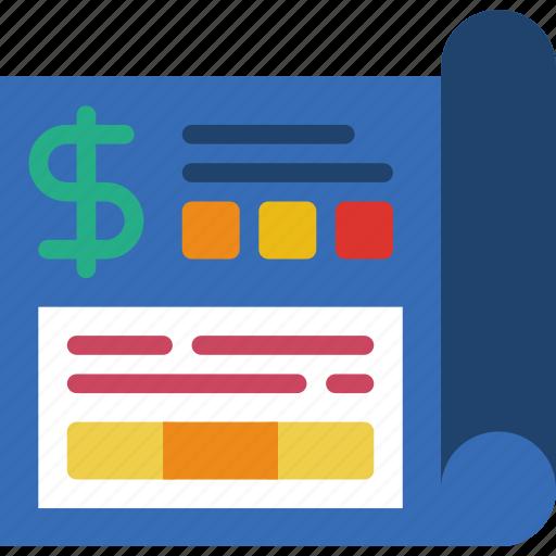 business, finance, financial, marketing, money, office, plan icon