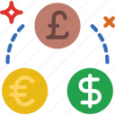 business, currency, exchange, finance, marketing, money, office icon