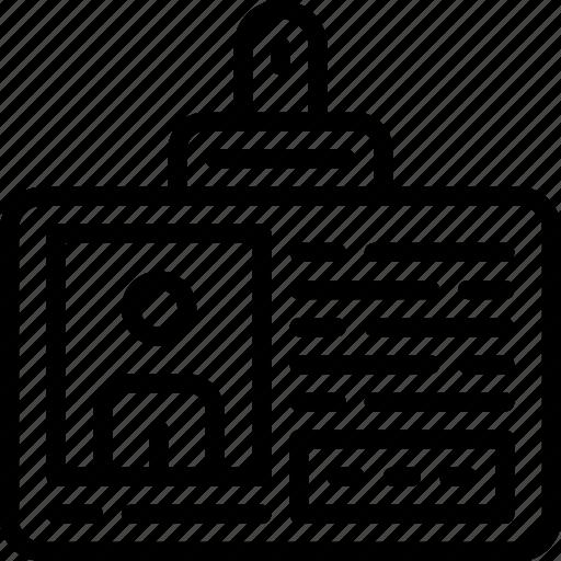 badge, business, finance, id, marketing, money, office icon