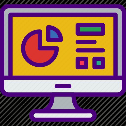 analytics, business, finance, marketing, money, office icon