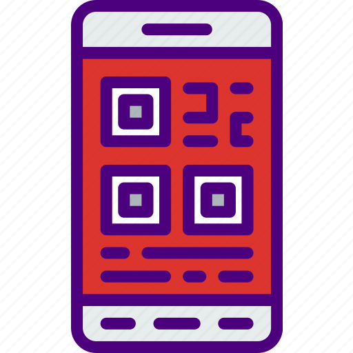 business, code, finance, marketing, money, office, qr icon