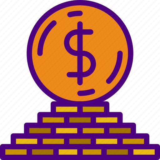 business, coin, finance, marketing, money, office, stack icon
