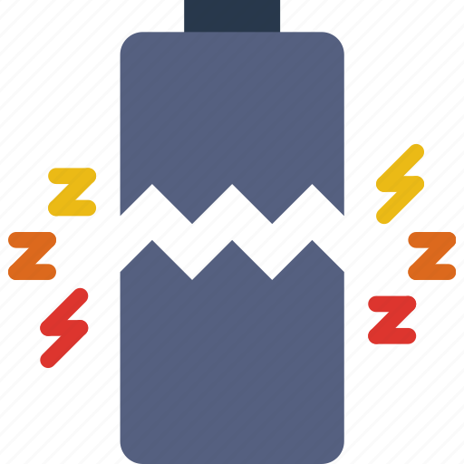 battery, broken, connection, internet, network, web icon