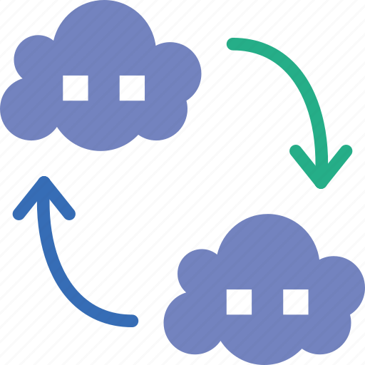 cloud, connection, internet, network, transfer, web icon