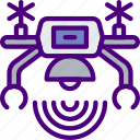 connection, drone, internet, network, web icon