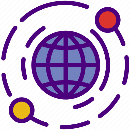 connection, internet, network, web, world icon
