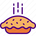 cook, eat, food, kitchen, meal, pie icon
