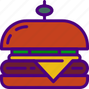cook, eat, food, hamburger, kitchen, meal icon