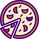 cook, eat, food, kitchen, meal, pizza, sliced icon