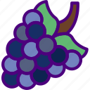 cook, eat, food, grapes, kitchen, meal icon