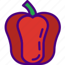 bell, cook, eat, food, kitchen, meal, pepper icon