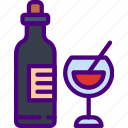 cook, eat, food, kitchen, meal, wine icon