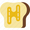 and, bread, butter, cook, eat, food, kitchen icon