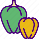 bell, cook, eat, food, kitchen, peppers icon