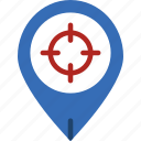 area, gps, land, map, pin, target icon
