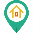 area, gps, home, land, map, pin icon