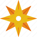 area, gps, land, map, north, pin, star icon