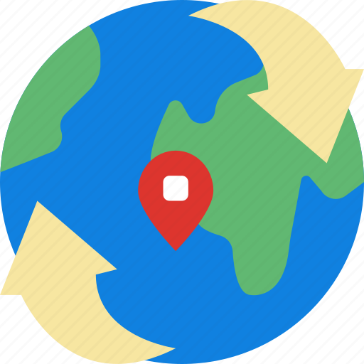 World Map Gps.Area Around Gps Land Map Pin World Icon