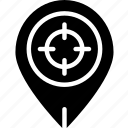 area, gps, land, map, pin, target icon