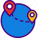 area, gps, land, map, navigation, pin icon