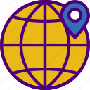 area, gps, land, location, map, pin, world icon