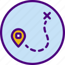 area, gps, land, map, pin, road icon