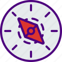 area, compass, gps, land, map, pin icon