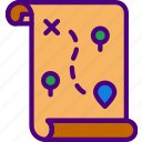 area, forest, gps, land, map, pin icon