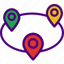 area, cycle, gps, land, location, map, pin icon