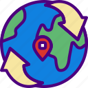 area, around, gps, land, map, pin, world icon