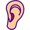 dcotor, ear, health, hospital, lobe, medical icon
